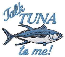 Talk Tuna embroidery design