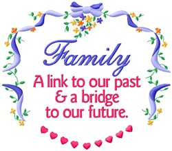 Family Link embroidery design