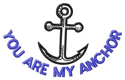 Are My Anchor embroidery design