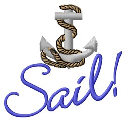 Sail Anchor embroidery design
