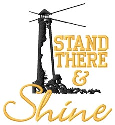 Stand There embroidery design