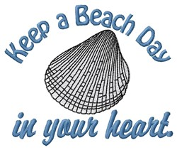 Beach Day embroidery design