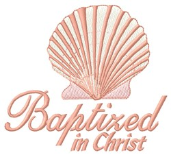 Baptized In Christ embroidery design
