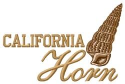 California Horn embroidery design