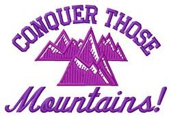 Conquer Mountains embroidery design