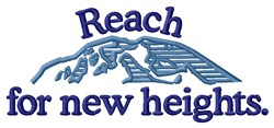 New Heights embroidery design