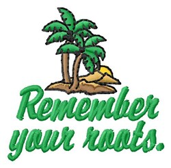 Rember Roots embroidery design
