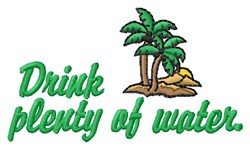 Drink Water embroidery design