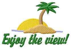 Enjoy View embroidery design