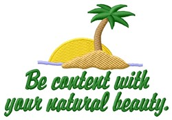 Be Content embroidery design