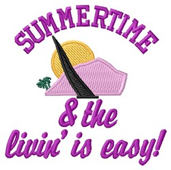 Summertime embroidery design