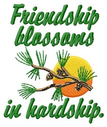 Friendship Blossoms embroidery design