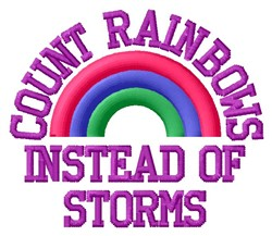 Count Rainbows embroidery design