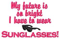 Wear Sunglasses embroidery design