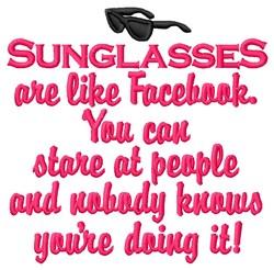 Facebook Sunglasses embroidery design