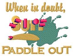 Paddle Out embroidery design
