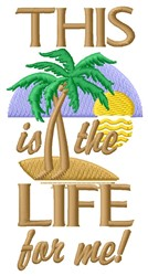 The Life embroidery design