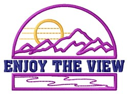 The View embroidery design