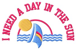 Day In Sun embroidery design