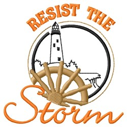Resist Storm embroidery design