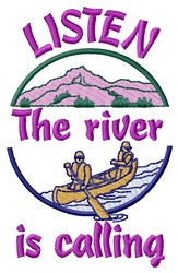 River Calling embroidery design