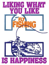 Fishing Happiness embroidery design