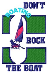 Rock The Boat embroidery design