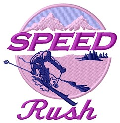 Speed Rush embroidery design
