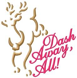 Dash Away embroidery design