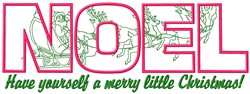 Have Merry Christmas embroidery design