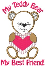 Teddy Bear Friend embroidery design