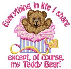 Share Teddy Bear embroidery design