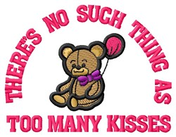 Too Many Kisses embroidery design