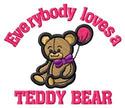 Loves Teddy Bear embroidery design
