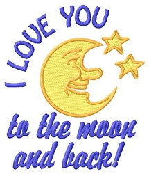 Moon And Back embroidery design