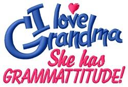 Grammattitude embroidery design
