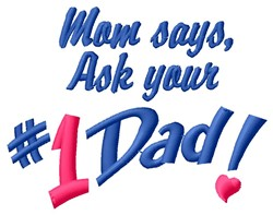 Ask Dad embroidery design