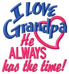 Grandpa Has Time embroidery design