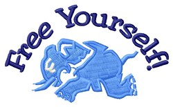 Free Yourself embroidery design