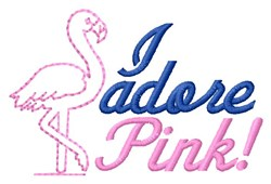 Adore Pink embroidery design