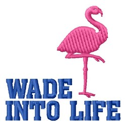 Wade Into Life embroidery design