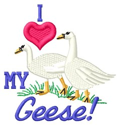 Love My Geese embroidery design