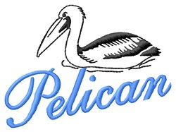 Pelican embroidery design