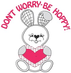 Be Hoppy embroidery design
