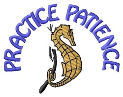 Patience embroidery design