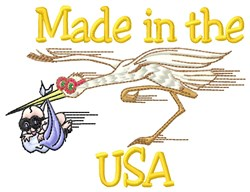 Made In USA embroidery design