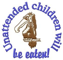 Unattended Children embroidery design