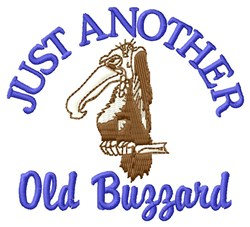 Old Buzzard embroidery design