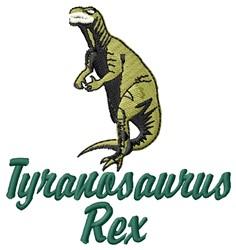 Tyranosaurus Rex embroidery design