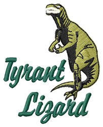 Tyrant Lizard embroidery design